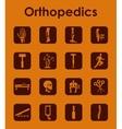 Set of orthopedics simple icons vector image