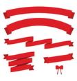 set red vintage ribbons vector image