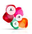 shiny blank web option boxes vector image vector image