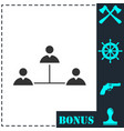 social network icon flat vector image vector image