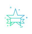 star icon design vector image vector image