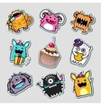 Stickers monsters for kids vector image vector image