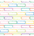 stylized multicolor brick wall pattern vector image vector image