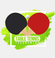 table tennis tournament badge design ping pong vector image