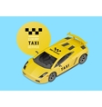 taxi car luxury service vector image