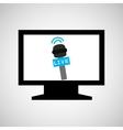 tv plasma digital news icon vector image vector image