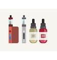 Vape Juice and Smoker Icon Set vector image