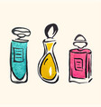 watercolor hand draw perfume bottles vector image vector image