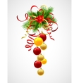 Christmas decoration holly with berries and vector image