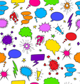 Comics seamless background from speech bubbles vector image