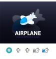Airplane icon in different style vector image