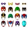 Super hero masks set vector image
