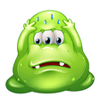 A failed fat green monster vector image vector image