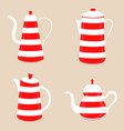 abstract logo for ceramic teapot vector image vector image