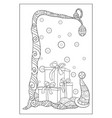 adult coloring bookpage a tree with christmas vector image