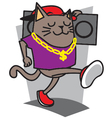 Afro Cat vector image