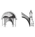 arch typically vintage engraving vector image vector image