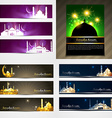 attractive set of brochure and banner of eid vector image vector image