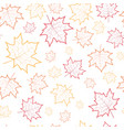 autumn seamless pattern background maple leaves vector image vector image