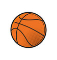 basketball ball icon design flat in black vector image
