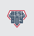 best boy - t-shirt print patch with lettering vector image vector image