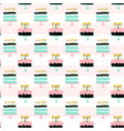 birthday cakes seamless pattern vector image