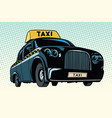 black taxi with a yellow sign vector image
