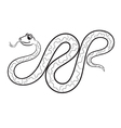 boa outlined vector image vector image