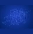 box build blueprint vector image vector image
