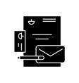 branding identity black concept icon vector image