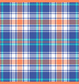 bright plaid pattern vector image vector image