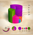 business pie diagram set vector image vector image