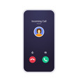 call screen mockup abstract incoming call window vector image