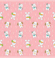 cartoon cute animals seamless pattern vector image
