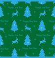 christmas deer and tree seamless pattern fashion vector image vector image