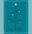christmas greeting card with a christmas tree vector image vector image