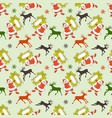 christmas seamless pattern cartoon santa and vector image