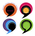 colored speech bubble retro style vector image vector image