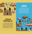 czech republic culture commercial travel agency vector image vector image