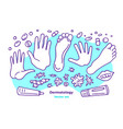 dermatology set skin diseases problem analysis vector image