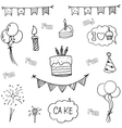 Doodle art birthday party hand draw vector image vector image