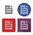 dotted icon document in four variants vector image vector image