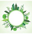Eco cityscape around circle vector image