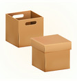 empty cardboard box packaging container vector image vector image