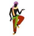 Ethnic dance of indian man vector image vector image