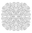 filigree floral pattern vector image