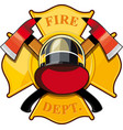 fire department badge vector image vector image