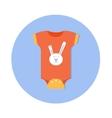 flat design cute baby icon vector image vector image