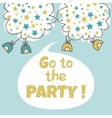 Go to the party vector image vector image
