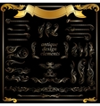 gold calligraphic design elements decoration set vector image vector image